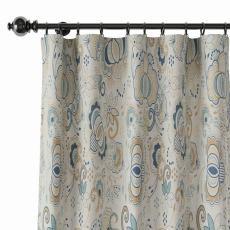 Paisleys Print Polyester Linen Curtain Drapery PALM