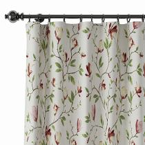 Botanical Flower Print Polyester Cotton Curtain Drapery CORA