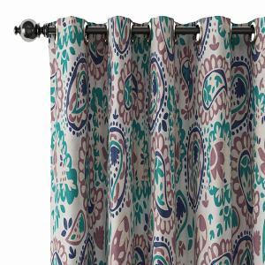 Paisleys Print Polyester Linen Curtain Drapery GEOMETRIC