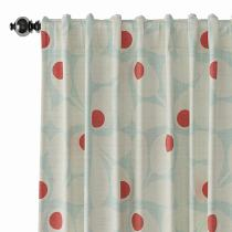 Abstract Print Polyester Linen Curtain Drapery PARROT