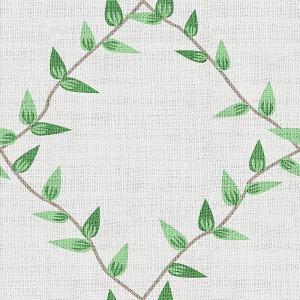 Nature Print Polyester Linen Curtain Drapery GARDEN