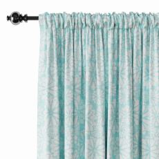 Geometric Print Polyester Linen Curtain Drapery CROWN