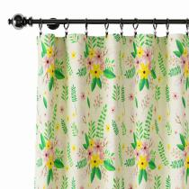 Nature Print Polyester Linen Curtain Drapery WIZARD