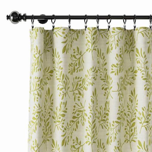 Nature Print Polyester Linen Curtain Drapery JASPER