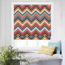 BARBARA Abstract Print Polyester Linen Roman Shade
