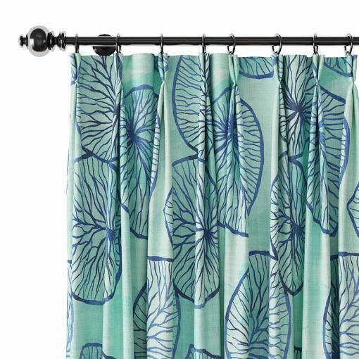 Abstract Print Polyester Linen Curtain Drapery THEODORE