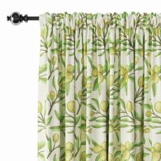 Nature Print Polyester Linen Curtain Drapery ASHER