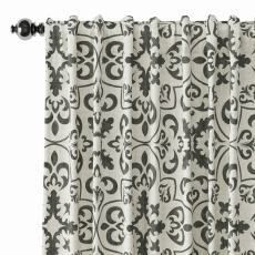 Geometric Print Polyester Linen Curtain Drapery MOBILIZATION