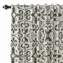 Geometric Print Polyester Linen Curtain Drapery MOBILIZATION