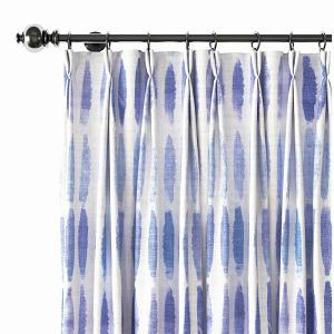 Abstract Print Polyester Linen Curtain Drapery GRANVILLE