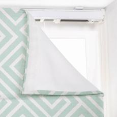 ATELIER Geometric Print Polyester Linen Roman Shade