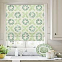 TUSCANY Nature Print Polyester Linen Roman Shade