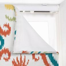 ANGELIA Ethnic Print Polyester Linen Roman Shade