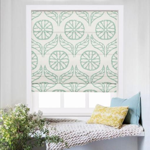 CASHMERE Nature Print Polyester Linen Roman Shade