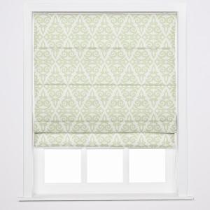 EMPORIO Geometric Print Polyester Linen Roman Shade