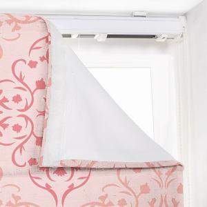 KRISTINE Geometric Print Polyester Linen Roman Shade