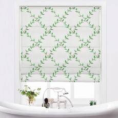 GARDEN Nature Print Polyester Linen Roman Shade