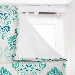 ELIJAH Geometric Print Polyester Linen Roman Shade