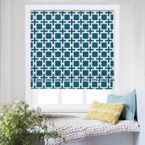CHELSEA Abstract Print Polyester Linen Roman Shade