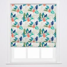BRITNEY Tropical Print Polyester Linen Roman Shade