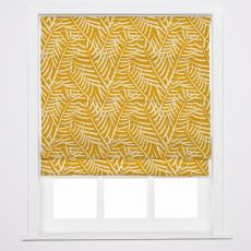 CANDICE Nature Print Polyester Linen Roman Shade