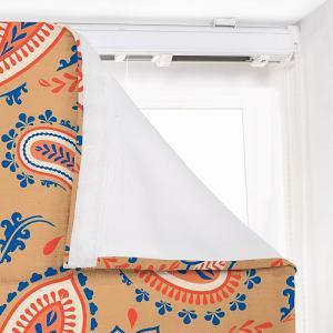 ANITA Paisley Print Polyester Linen Roman Shade
