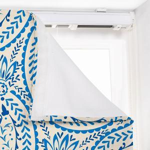 ARIEL Paisley Print Polyester Linen Roman Shade