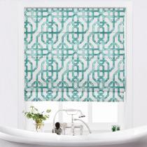 THEA Lattice Print Polyester Cotton Roman Shade