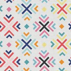 Geometric Print Polyester Linen Curtain Drapery ARAV