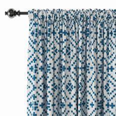 Geometric Print Polyester Linen Curtain Drapery OSCAR
