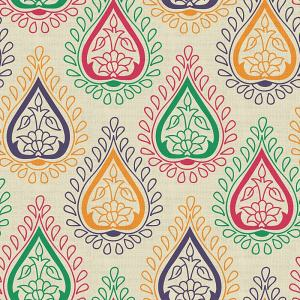 Abstract Print Polyester Linen Curtain Drapery WYATT