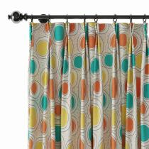 Abstract Print Polyester Linen Curtain Drapery OLIVER