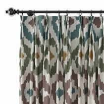Abstract Print Polyester Linen Curtain Drapery ARYAN