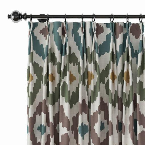 Abstract Print Polyester Linen Curtain Drapery ARYAN