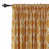 Geometric Print Polyester Linen Curtain Drapery JULIAN