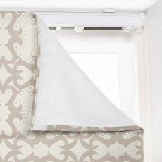 SUMA Geometric Print Polyester Linen Room Darkening Roman Shade