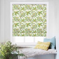 ASHER Nature Print Polyester Linen Room Darkening Roman Shade