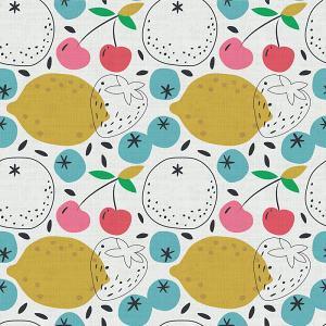 Summer Print Polyester Linen Curtain Drapery BODHI