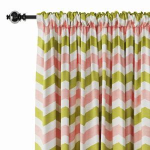 Geometric Print Polyester Linen Curtain Drapery JAMES
