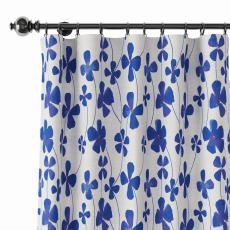 Abstract Print Polyester Linen Curtain Drapery CHARLIE