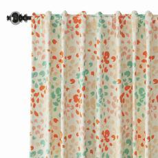 Abstract Print Polyester Linen Curtain Drapery LOUIS