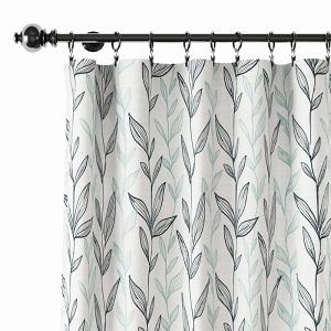 Nature Print Polyester Linen Curtain Drapery EZRA