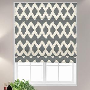 HENRY Geometric Print Polyester Linen Room Darkening Roman Shade