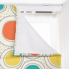 OLIVER Abstract Print Polyester Linen Room Darkening Roman Shade