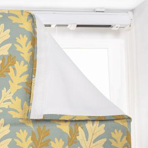 PHOEBE Leaf Print Polyester Linen Room Darkening Roman Shade
