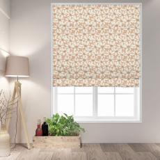 MAYA Floral Print Polyester Linen Room Darkening Roman Shade