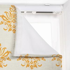 JULIA Abstract Print Polyester Linen Room Darkening Roman Shade