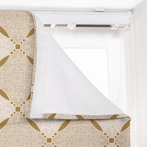 ESEM Geometic Print Polyester Linen Room Darkening Roman Shade