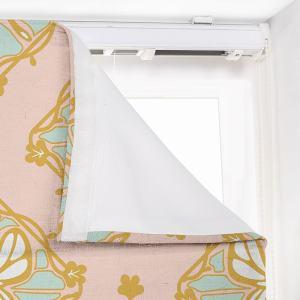 ELSIE Abstract Print Polyester Linen Room Darkening Roman Shade
