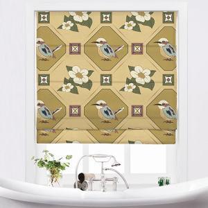 IMOGEN Animal Print Polyester Linen Room Darkening Roman Shade